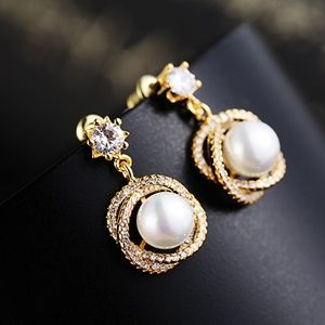 Peal Cubic Zirconia Earring